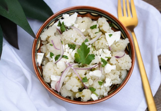 Salade de chou-fleur à la feta