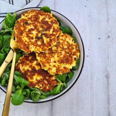 Galettes de chou-fleur au fromage