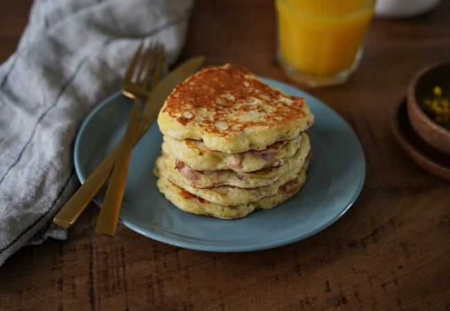 Pancakes lardons et fromage